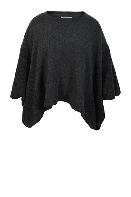 Gudo Knitwear, Cape DUO strik, Dark Grey
