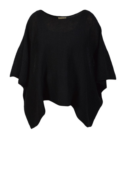 Gudo Knitwear, Cape DUO strik, Black