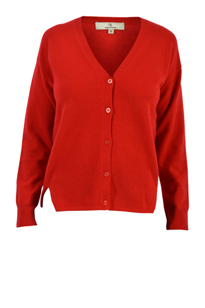 Charlotte Sparre Cashmere cardigan, Red
