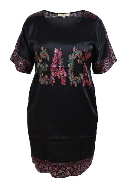 Charlotte Sparre Super dress Peace Flower 2106, Black