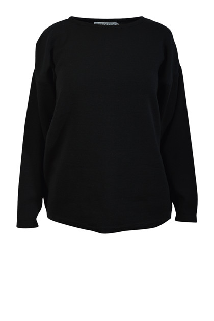 Petroleum strik O-neck, Black