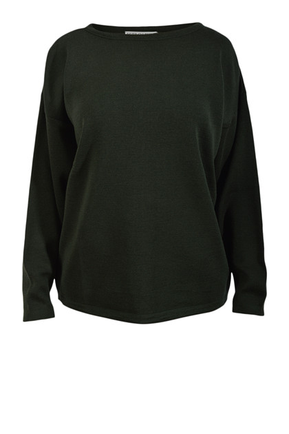 Petroleum strik O-neck, Army Green