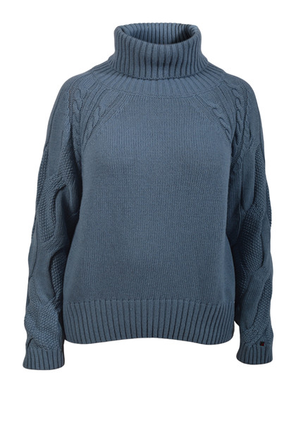 Redgreen Woman Jackie Cable Sweater, Blue