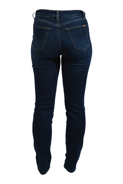 Jonny Q jeans DEBBIE x-fit stretch Q4312, dark destroyed (blond)