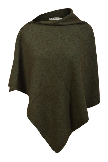 Mansted ZOZI poncho, Cold Green