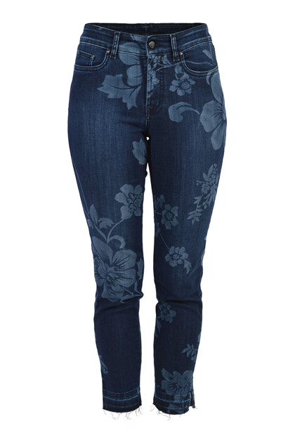 Jonny Q Jeans X-fit Stretch Q4606/1, Blue flower