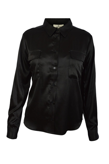 Charlotte Sparre Classic Shirt 2428 Solid, Black