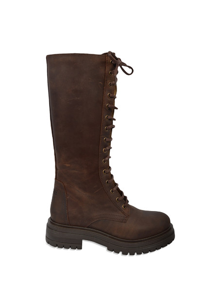 Johnny Bulls long boot 972,  Brown oiled leather