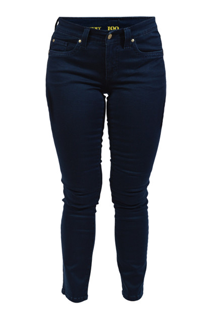 JONNY Q Jeans Stretch Sateen Blue Dark Stone