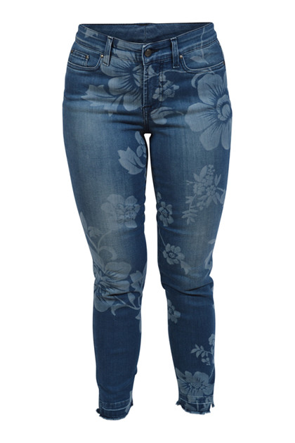 Jonny Q Jeans X-fit Stretch, Blue used flower