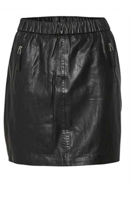 DENIM HUNTER FAY L NEDERDEL, BLACK