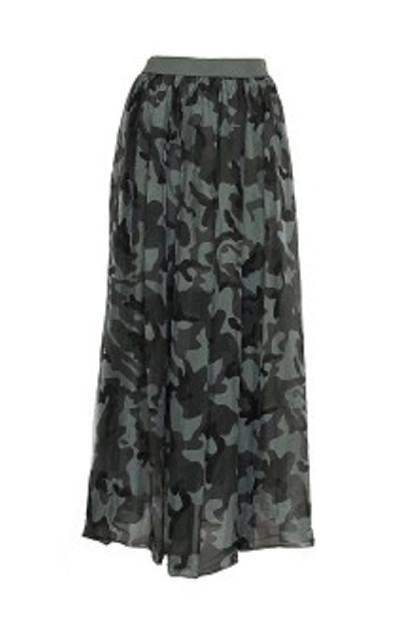 TIFFANY Long Skirt 16220, Camouflage