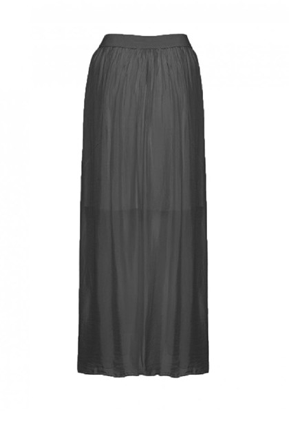 TIFFANY Silk skirt elastic, Dark Grey