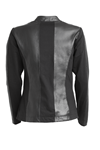 NÖR DENMARK LEATHER CARDIGAN 83.602, BLACK