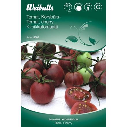 Tomat - Solanum lycopersicum - Black Cherry  - Frø (W8588)