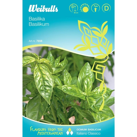 Basilikum - Ocimum Basilicum - Italiano Classico - Frø (W7658)