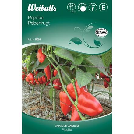 Peberfrugt - Capsicum Annuum - Piquillo - KRAV - Frø (W8009)