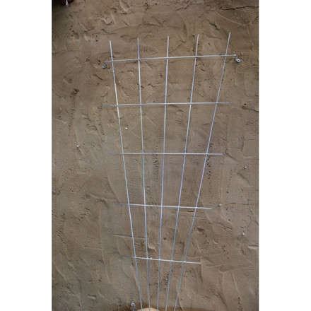 Trådespalie vifte 150 x 75 cm. zink (GA)