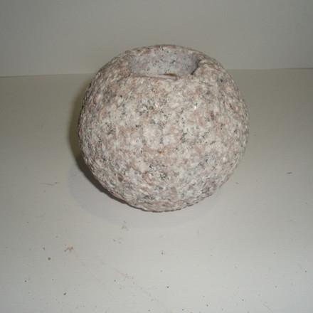 Fyrfadssten rosa Ø 10cm