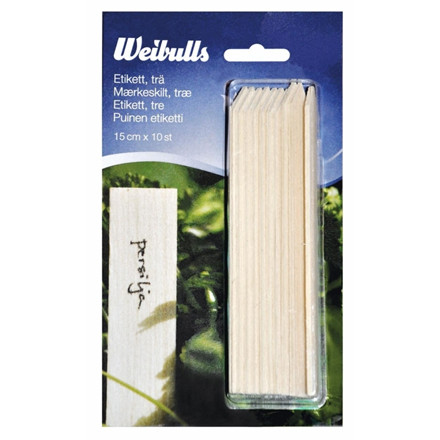 Weibulls Etiketter træ 10 stk. 15 cm. (WB670226)