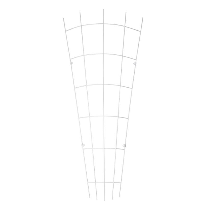Trådespalie vifte bøjet 150 x 65 cm. zink (GA)