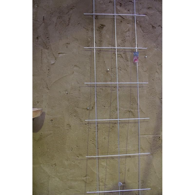 Trådespalie 10 ruder 150 x 45 cm. Zink (GA)