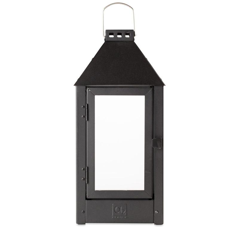 Lanterne MIDI / Sort 19x19x42,5 cm
