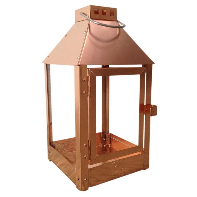 Lanterne MICRO / kobber12,5 x 12,5 x 25 cm.