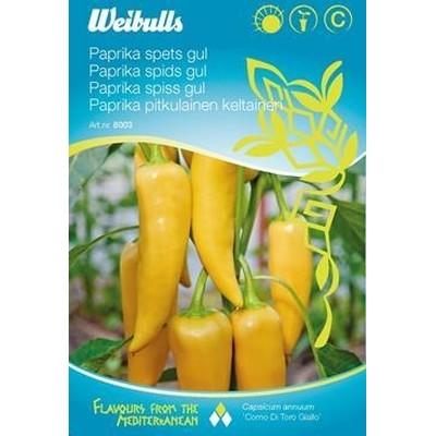 Snack Peber sød gul - Capsicum annuum 'Como Di Toro Giallo' - Frø (W8004)
