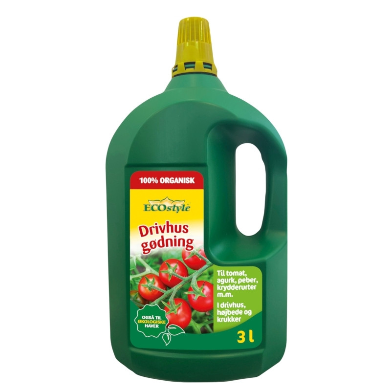Drivhusgødning 3 liter