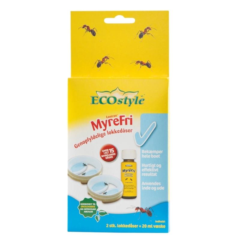 MyreFri Loxiran genopfyldelige lokkedåser  2 stk