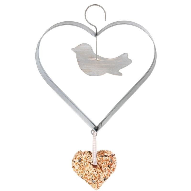 Foderhænger - Hjerte - Fugl - Hjerte (FB226)