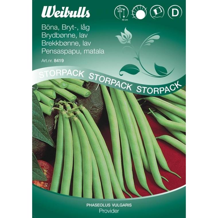Krybbønne, lav - Phaseolus vulgaris - Provider, Stor pose - Frø (W8419)