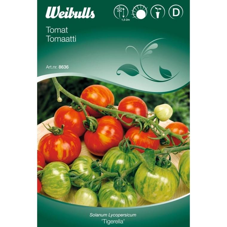 Tomat - Solanum Lycopersicum - Tigerella - Frø (W8636)
