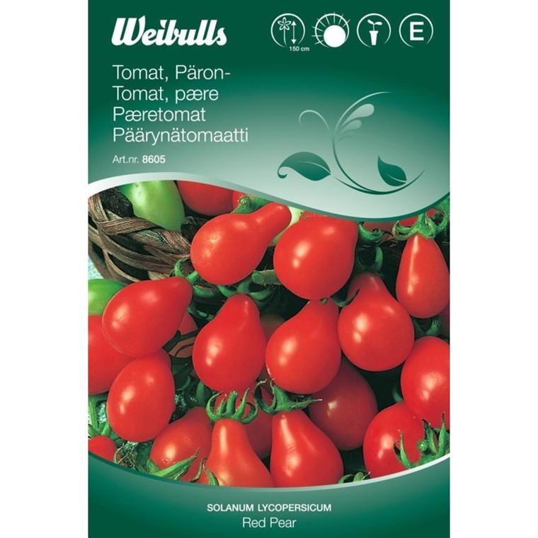 Tomat, pære - Solanum lycopersicum - Red Pear - Frø (W8605)