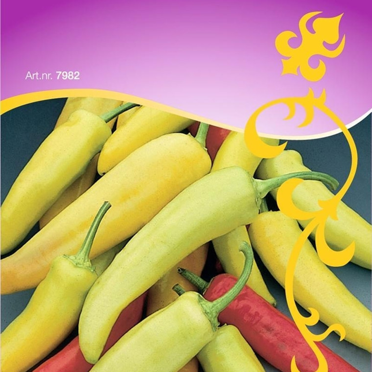 Chilipeber - Capsicum annuum - Hungarian hot wax ORIENTAL - Frø (W7988)