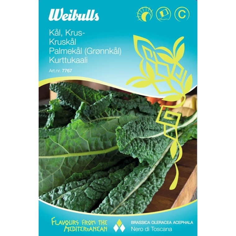 Kruskål - Brassica Oleracea Acephala - Nero di Toscana - Frø (W7767)