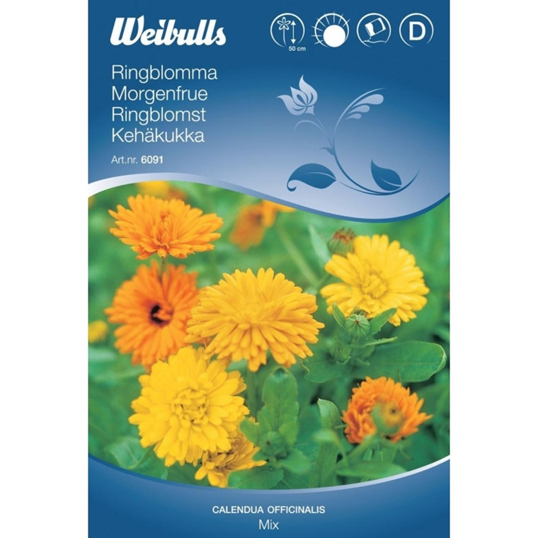 Morgenfrue mix - Calendula officinalis - Frø (W6091)