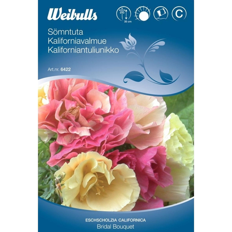 Guld-Valmue - Eschscholzia californica - Bridal Bouquet - Frø (W6422)