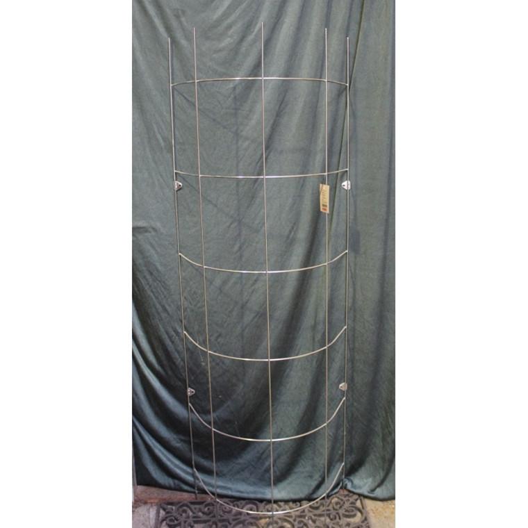 Trådespalie bøjet 150 x 46 cm zink (GA)