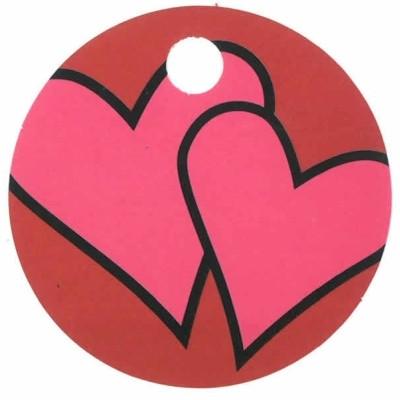 Rundt kort med hjerter