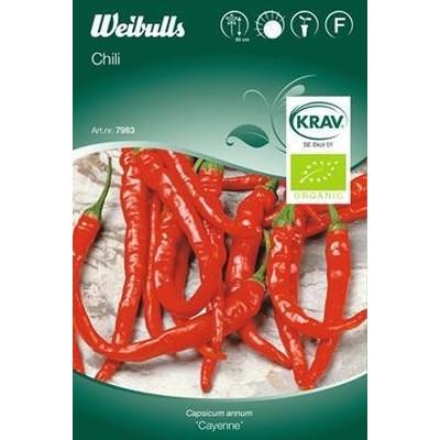 Peber, chili ' - Capsicum 'Cayenne' - KRAV- Frø (W7989)