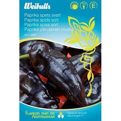 Snack Peber sort - Capsicum annuum 'Black Knight F1' - Frø (W8007)