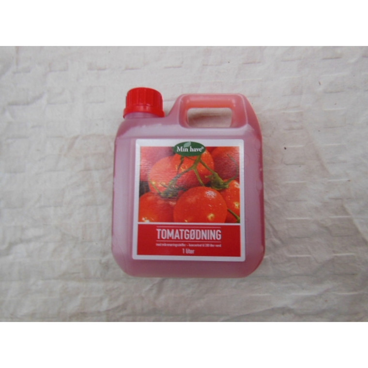 Min have tomatgødning. -  1 liter