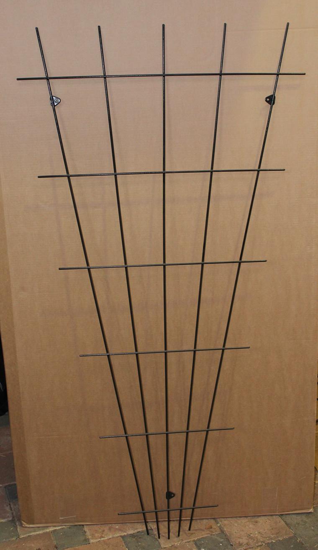 Trådespalie vifte 150 x 75 cm. sort (GA)