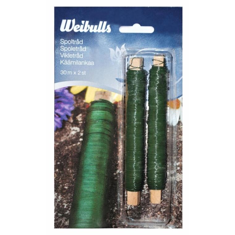 Weibulls Spoletråd grøn  2 rl. (WB670245)