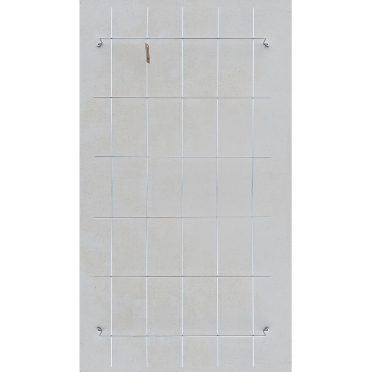Trådespalie firkantet 150 x 75 cm. Zink (GA)