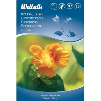 Blomsterkarse - Tropaeolum majus - Salmon Baby - Frø (W7435)