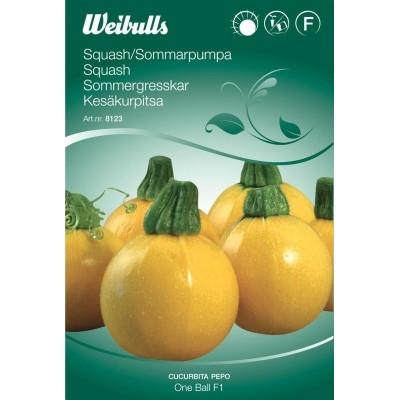Squash, rund - Cucurbita pepo - One Ball F1 - Frø (W8123)