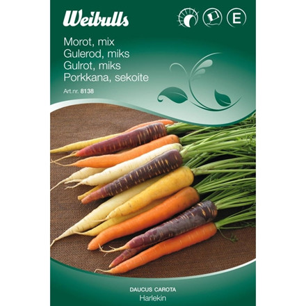 Gulerod, mix - Daucus carota - Harlekin - Frø (W8138)